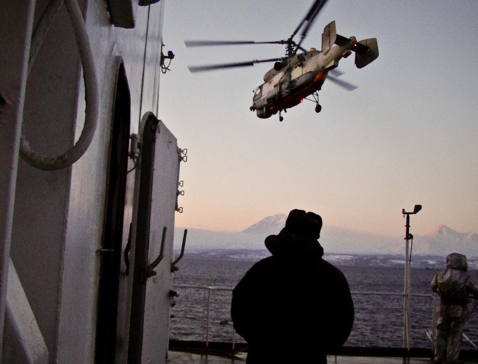 С корабля... Вертолет, Ка-27, спасатель