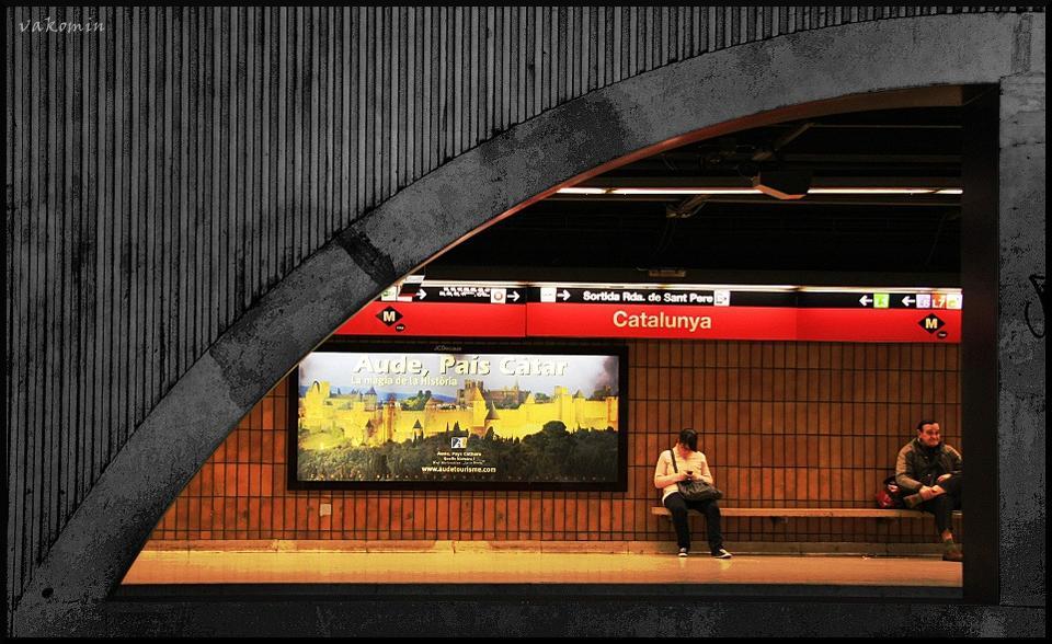 Underground geometry Barselona Catalunya подземка метро геометрия vakomin