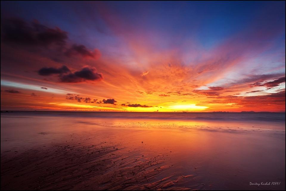 In pink mood таиланд ланта море небо закат пляж прибой