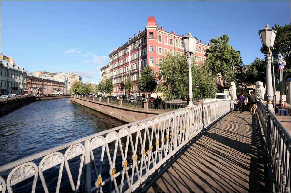 Львиный мост Санкт-Петербург Екатерининский Грибоедова канал Львиный мост