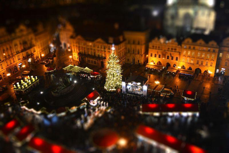 Рождественская Прага czech republic, prague, praha, город, европа, ночное фото, ночь, прага, путешествие, туризм, рождество