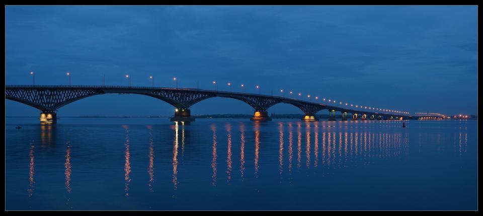 Мост через Волгу Саратов Волга мост