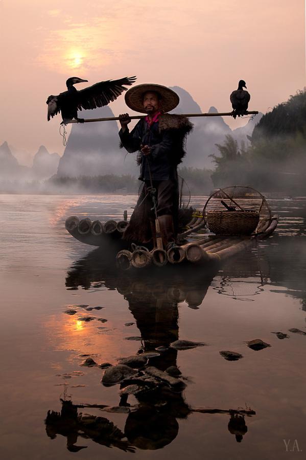ЛЮБИМЦЫ НА ШЕСТЕ Китай, рыбак