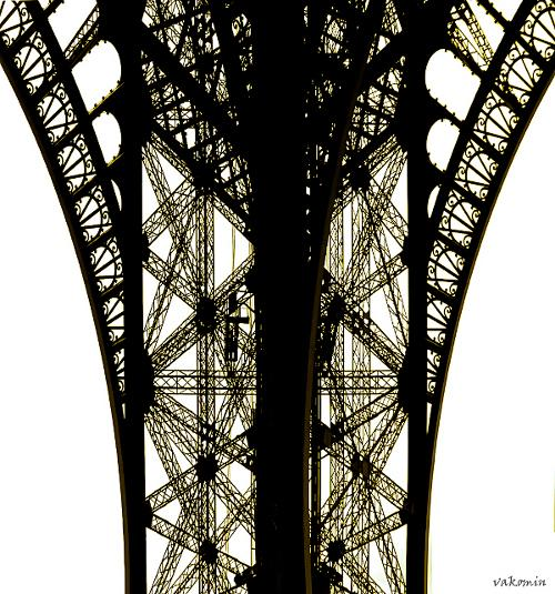 La Tour Eiffel 1 Париж  Paris La_Tour_Eiffel кружева узор vakomin