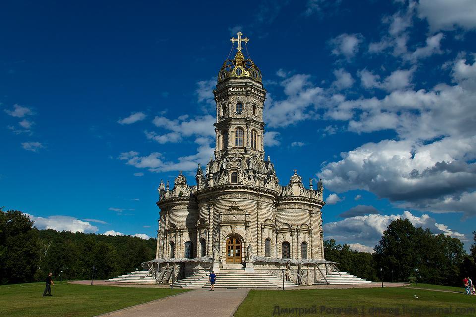 Знаменская церковь в Дубровицах Московская область, Подмосковье, Дубровицы, церковь, усадьба, лето