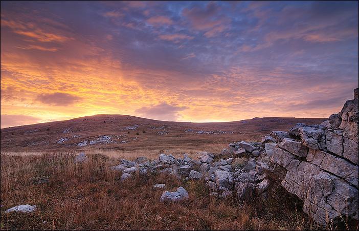 Рассвет на Бабуган-Яйле Крым, Бабуган-Яйла, рассвет, горы