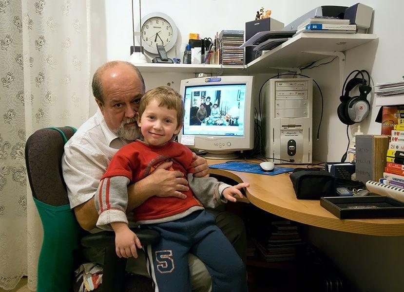 Виктор Хаскин с внуком Виктор Хаскин