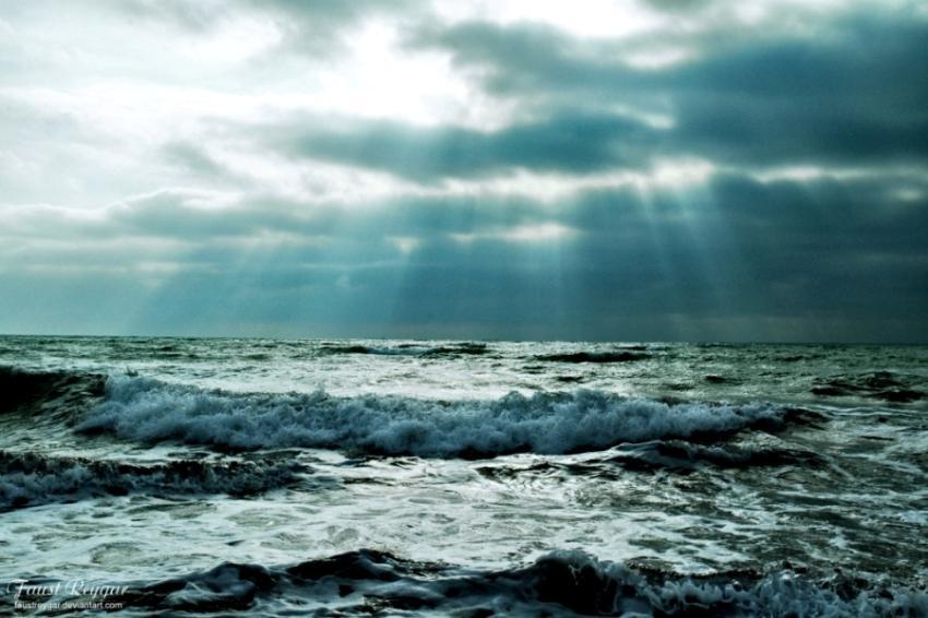 Конец ноября море каспий ноябрь небо свет
