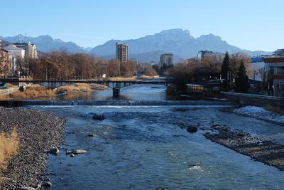 Владикавказ. Река Терек Кавказ Владикавказ Терек река горы Северная Осетия