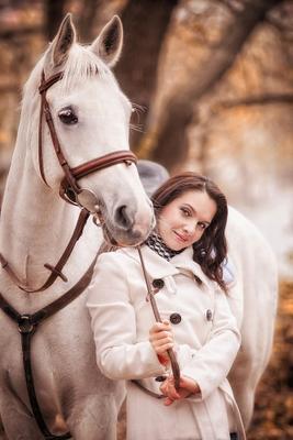 Друг лошадь, портрет, октябрь