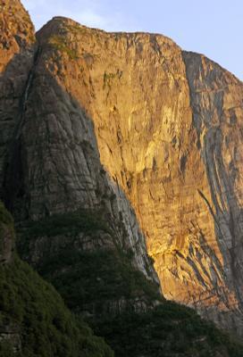 Кьераг вечерний Kjerag Кьераг Люсефьорд Норвегия горы скалы закат