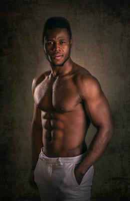 Мишель мужчина классический_портрет камерный_портрет студия съёмка афроамериканец
