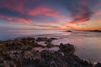 Sunset extravaganza Закат облака океан рифы