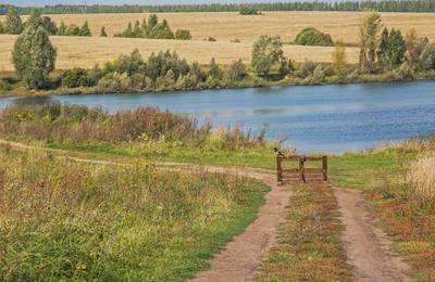 Страж ворот природа пейзаж осень дорога сорока татарстан мемдель