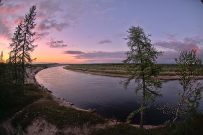Вечер заполярье крайний север Ненецкий автономный округ