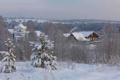 Зимний сюжет пежма зима снег дорога