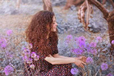 Angelica девушка портрет цветы природа эмоции