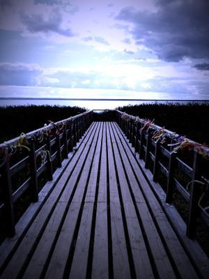 без названия озеро ленточки мостик