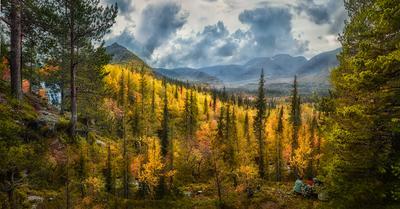 Осень в Хибинах. Осень Хибины Кольский полуостров