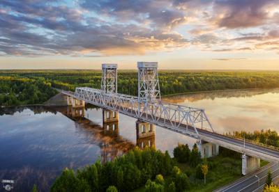 Мост через реку Свирь около Лодейного поля
