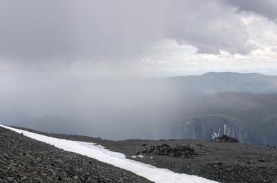 Кара-Тюрек. Дождь. горы алтай горный аккем пейзаж природа россия ник васильев красота перевал кара-тюрек белуха облака дождь
