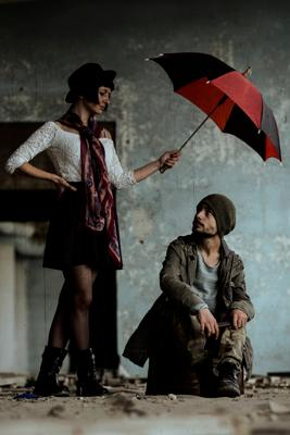 Invisible rain zontik