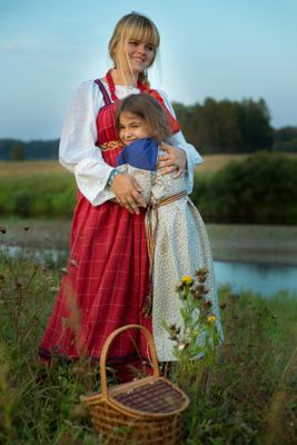 *** девочка кукла поле корзинка вечер машенька сказка лето русское народное