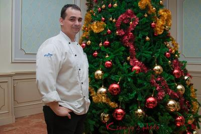 Merry Christmas for everybody! chief cook Hotel Radisson SAS Astana Kazakhstan