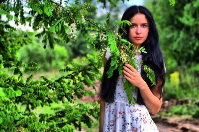 *** девушка портрет лето