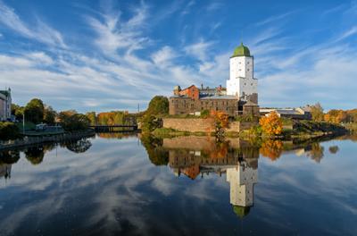 Замок ЛО Выборг замок осень