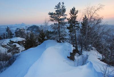 Смеркается.... Январь сумерки Алтай