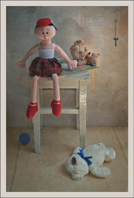 *** комната натюрморт,куклы