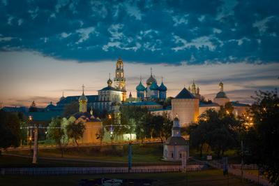 Сергиев Посад сергиев посад рпц православие христианство город вечер вид