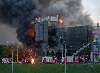 Пожар - и шоу и работа_2 Новосибирск пожар 2020