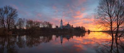 Про весенний разлив Владимирская область церковь разлив река