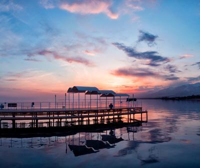 Прощальный закат. Озеро Иссык-Куль