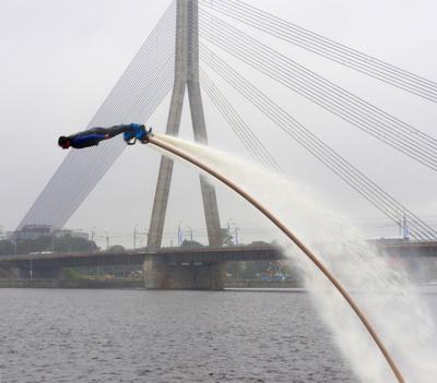 Над водой*** мост река fliboard