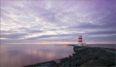 Маяк исландия маяк море зима закат штиль