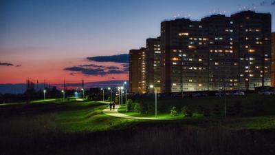 Прогулки после заката Ростов-на-Дону ночь небо город