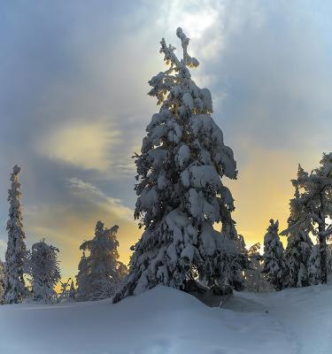 Зимний вечер. Урал