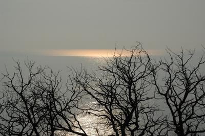 Золото в серебре море закат