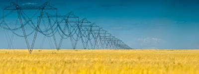 Киловольты/километры ЛЭП Электричество Масштаб Степь Даль