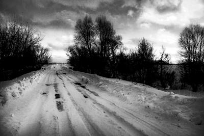 Чёрно-белые картинки. Село Трехизб-Шемурша.
