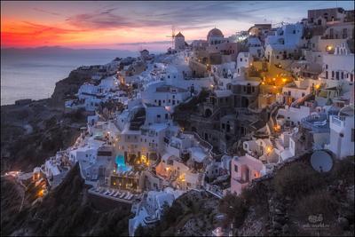 Сказочный остров Санторини... Греция Саторини Ия закат