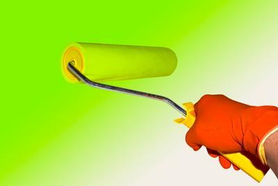 roller roller hand man repair paint painting glove tools handle painter