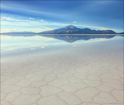 История Тунупы. боливия анды альтиплано латинская америка пейзаж панорама салар де уюни озеро отражение