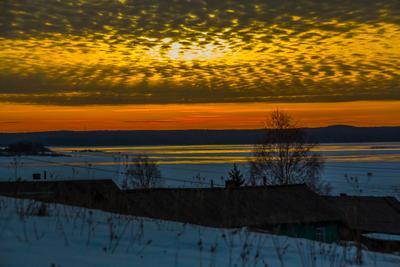 Северные деревни север вечер закат