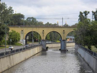 ***Виадук над Яузой для Курской железной дороги Moscow виадук река арка