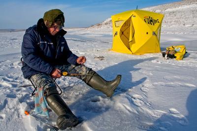 без названия рыбалка лед зима рыба вода