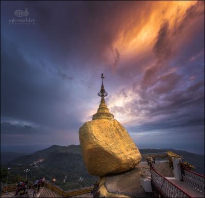 Золотой камень Мьянмы.. бирма мьянма золотой камень путешествие закат фототур mb-world